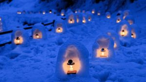 Winter Kamakura Candle Japanese Snow Japan Festival Picture For Facebook Cover